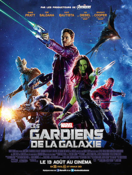 Guardians of the galaxy affiche film