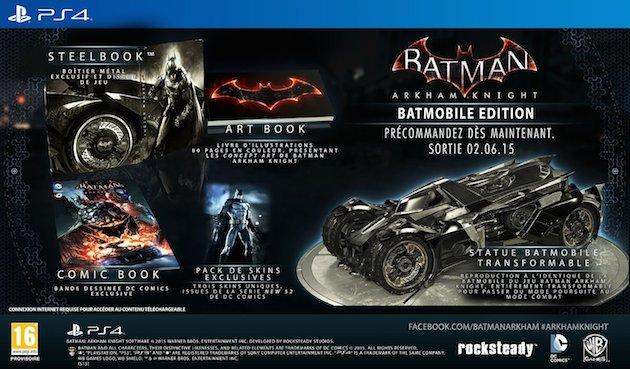 Precommande Batman Arkham Knight Batmobile Collector