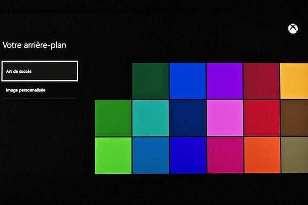 Comment changer fond d'ecran Xbox One