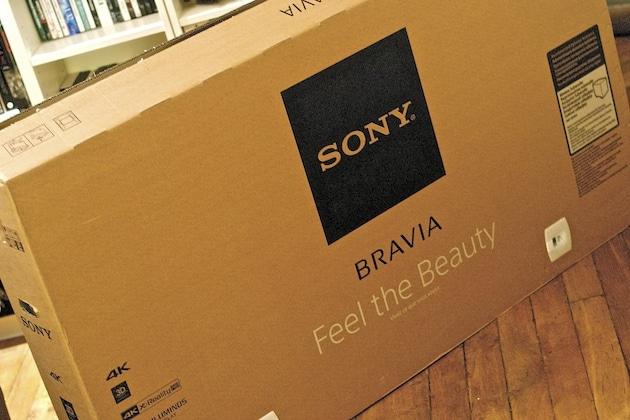 Installation mur TV 4K Sony KDL-55X9005B