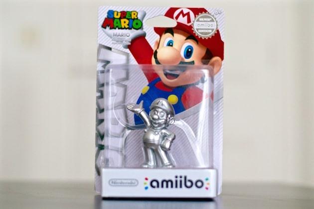 Amiibo Mario Silver Nintendo