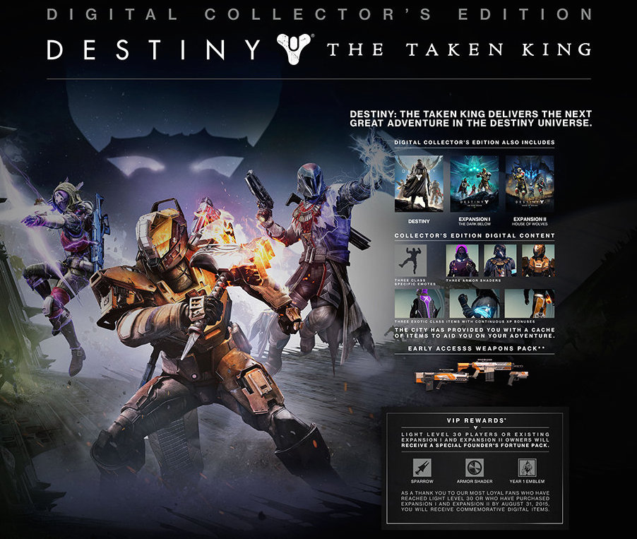 Destiny The Taken King Collector