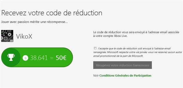 Xbox One Amazon reduction gamerscore