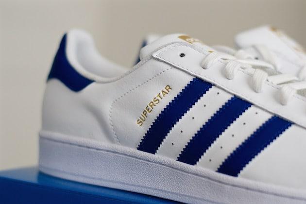 adidas superstar junior bleu