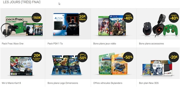 Fnac Promotions Bon Plan jeux Video