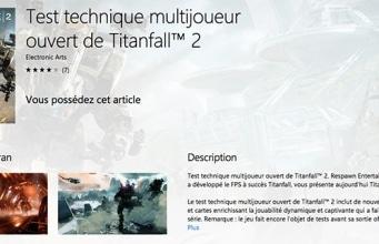 Beta test technique Titanfall 2 PS4 Xbox One