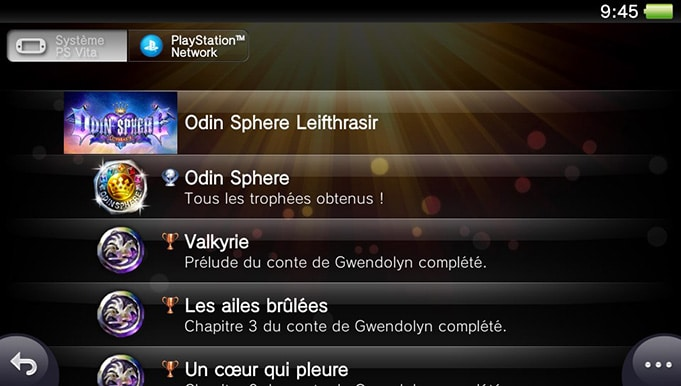 Trophée Platine Odin Sphere Leifthrasir