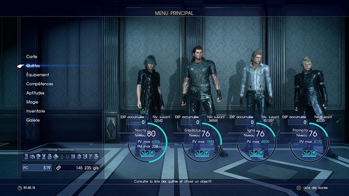 Avis Final Fantasy XV Test