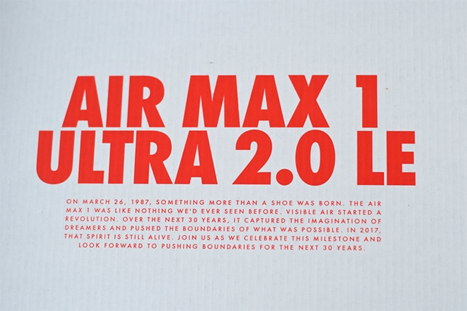 Air Max 1 Ultra 2.0 LE Unboxing