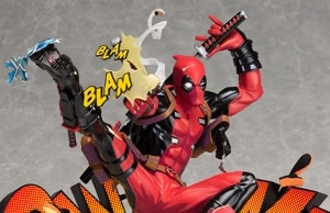 Figurine Deadpool Breaking the Fourth Wall