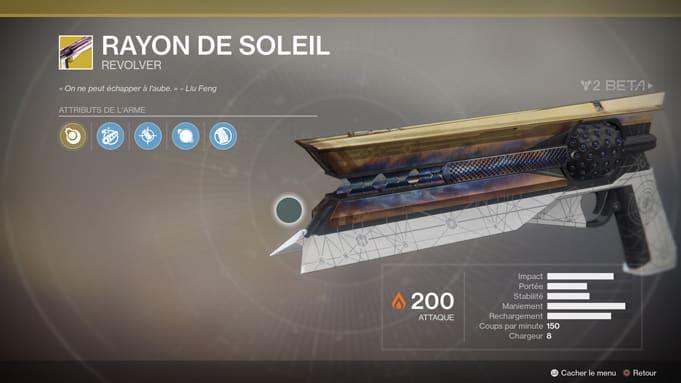 Impressions Test Destiny 2 Rayon de SOleil