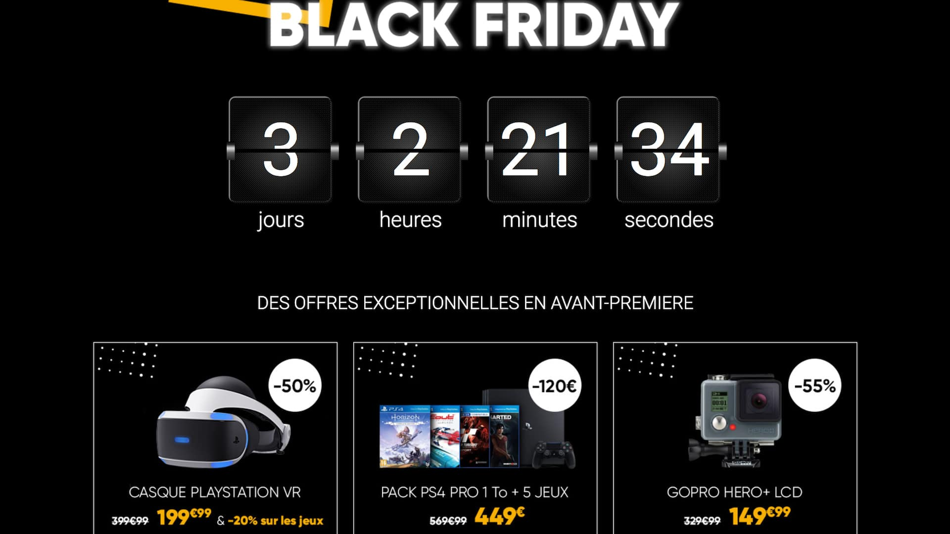 black friday les offres gaming fnac bons plans. Black Bedroom Furniture Sets. Home Design Ideas