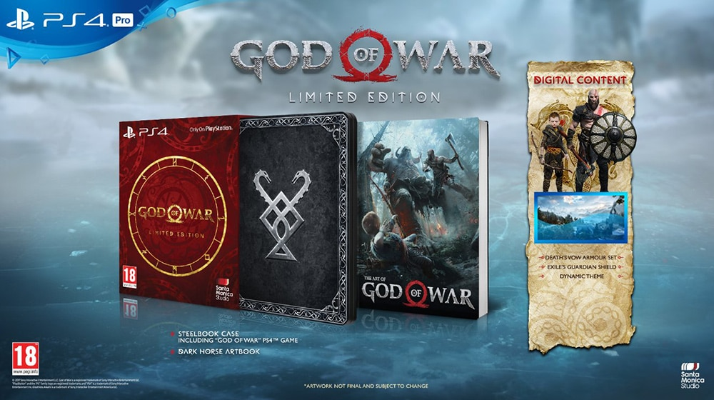God Of War Edition Limitee PS4