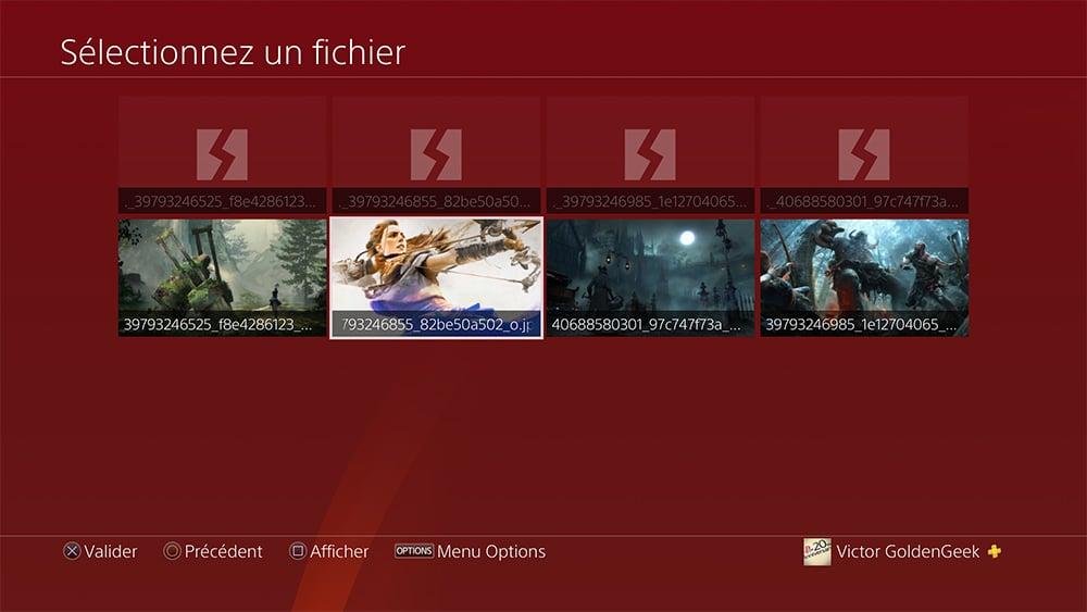 Changer fond ecran PS4