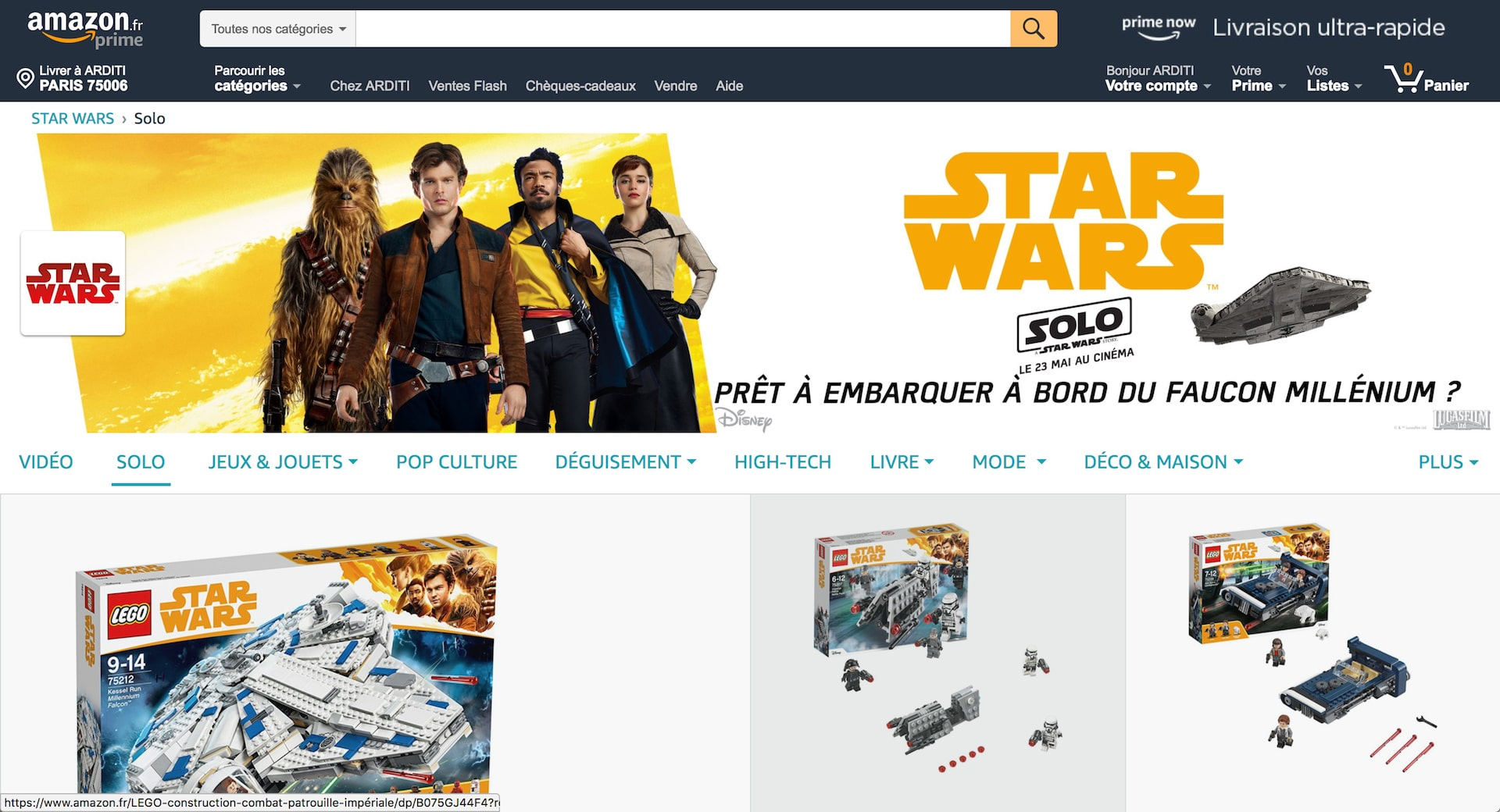 Boutique Amazon Star Wars