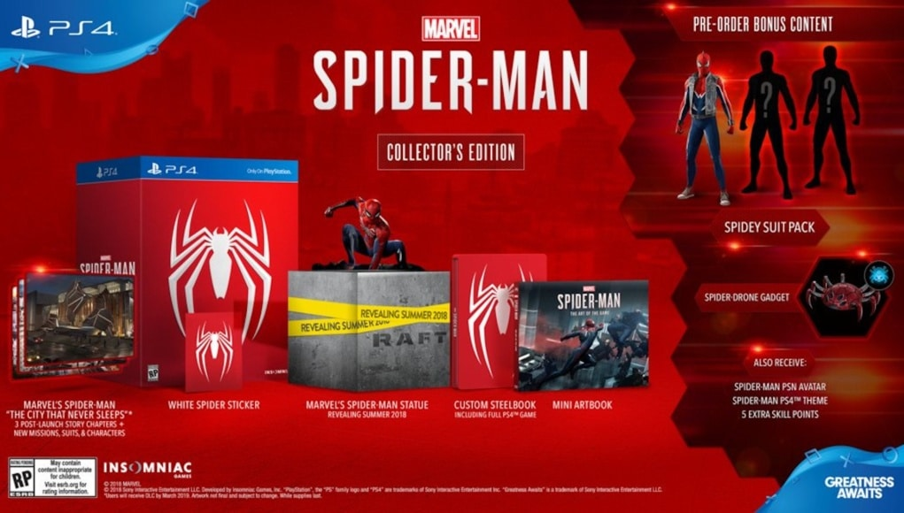 Precommande Spiderman PS4 Collector