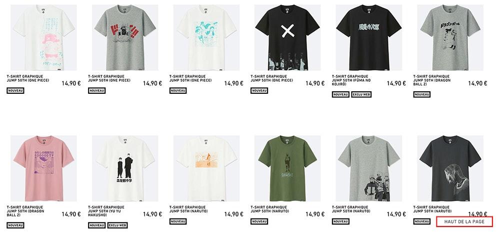 Uniqlo Shonen Jump T-Shirt