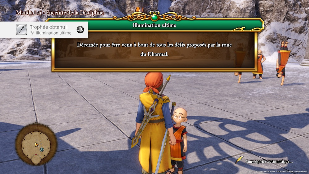 Dragon Quest 11 Trophee Platine