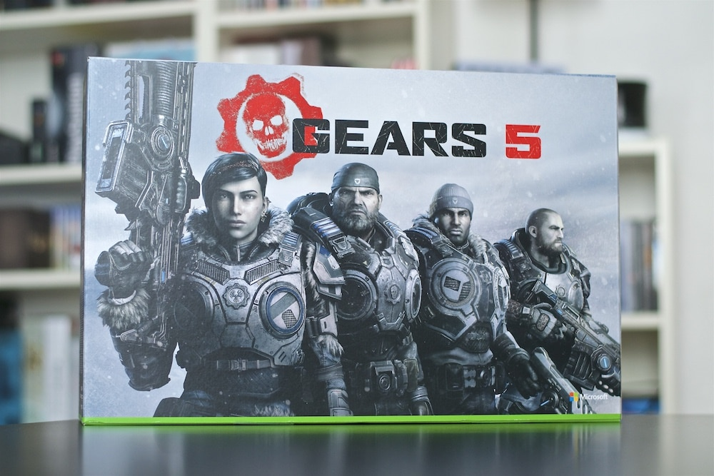 Unboxing Console Xbox One X gears 5 collector