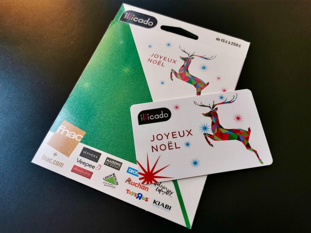 Cadeaux Noel 2019 cheque cadeau
