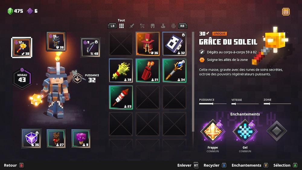 Test Minecraft Dungeons Xbox
